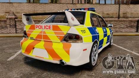 Mitsubishi Lancer Evolution IX Police [ELS] for GTA 4 back left view