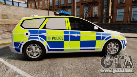 Ford Focus Estate 2009 Police England [ELS] for GTA 4 left view