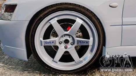 Mitsubishi Lancer Unmarked Police [ELS] for GTA 4 back view