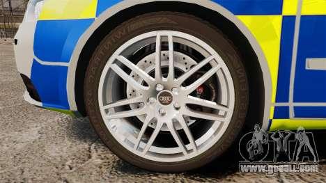 Audi S4 Avant Metropolitan Police [ELS] for GTA 4 back view