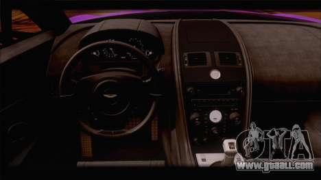 Aston Martin V12 Zagato 2012 [HQLM] for GTA San Andreas bottom view