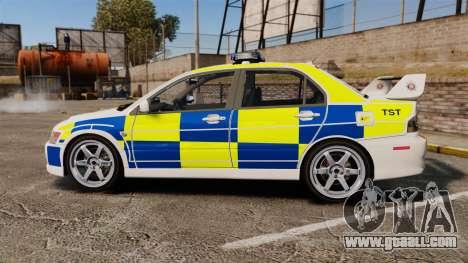 Mitsubishi Lancer Evolution IX Police [ELS] for GTA 4 left view