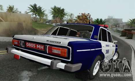 VAZ 2106 Police for GTA San Andreas back left view