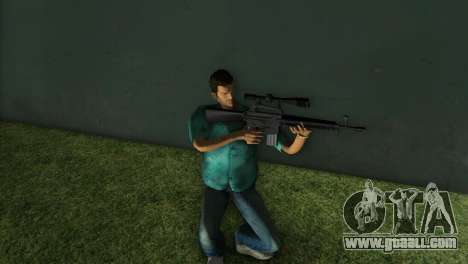 M-16 with a Sniper Gun for GTA Vice City third screenshot