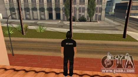 High-Quality Skin STAFF for GTA San Andreas forth screenshot