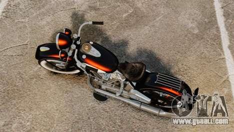 Harley-Davidson Knucklehead 1947 for GTA 4 back left view