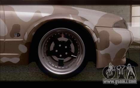 Nissan Skyline GTS Drift Spec for GTA San Andreas back left view