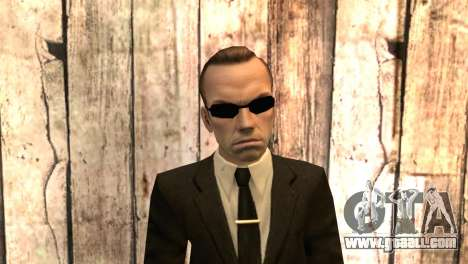Smith from movie matrix for GTA San Andreas third screenshot