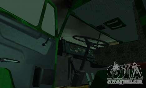 Army KAMAZ 4310 for GTA San Andreas inner view