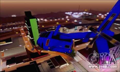 Fun Maverick for GTA San Andreas back left view
