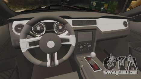 Ford Mustang GT 2013 NFS Edition for GTA 4 inner view
