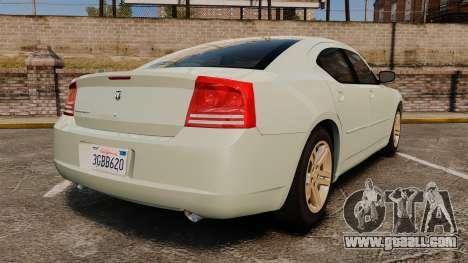 Dodge Charger RT Hemi 2007 for GTA 4 back left view