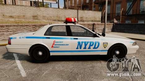 GTA V Police Vapid Cruiser NYPD for GTA 4 left view