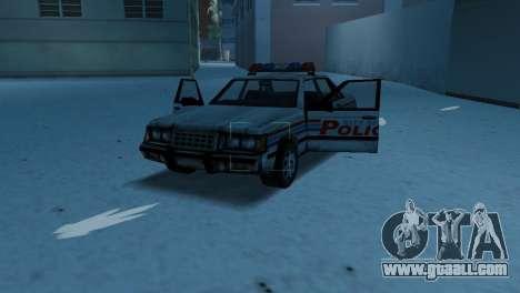 BETA Police Car for GTA Vice City inner view