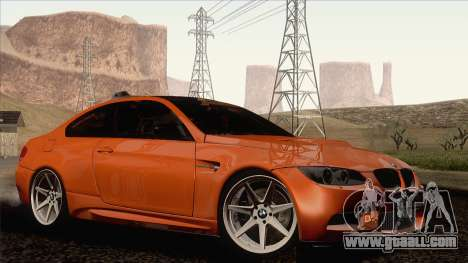 BMW M3 E92 2008 Vossen for GTA San Andreas left view