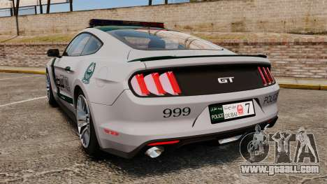 Ford Mustang GT 2015 Police for GTA 4 back left view