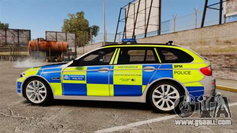 BMW 550d Touring Metropolitan Police [ELS] for GTA 4 left view