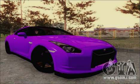 Nissan GT-R Spec V for GTA San Andreas back view