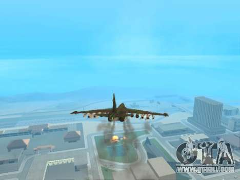 Su 25 for GTA San Andreas back view