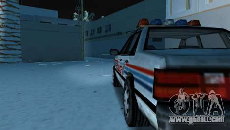 BETA Police Car for GTA Vice City right view