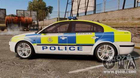 Skoda Superb 2006 Police [ELS] Whelen Edge for GTA 4 left view
