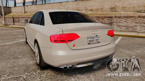 Audi S4 2010 for GTA 4 back left view