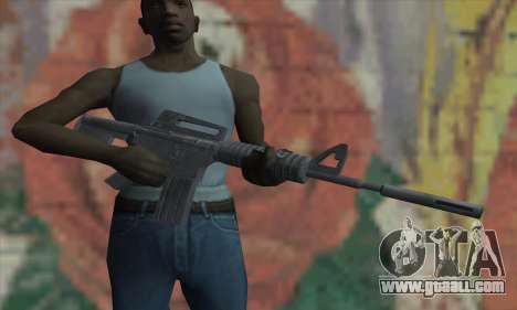 M4A1 from Saints Row 2 for GTA San Andreas third screenshot