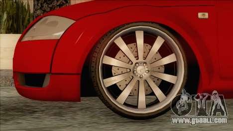 Audi TT 1.8T for GTA San Andreas back left view