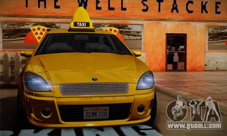 Declasse Premier Taxi for GTA San Andreas back view