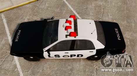 GTA V Vapid Police Cruiser LSPD for GTA 4 right view