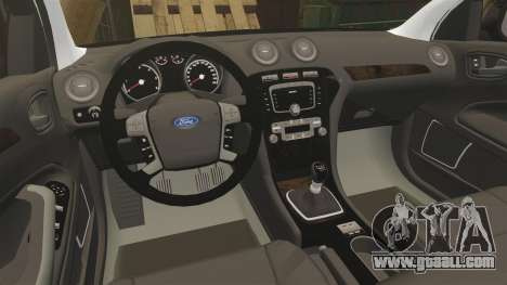 Ford Mondeo Unmarked Police [ELS] for GTA 4 inner view