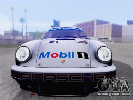 Porsche 911 RSR 3.3 skinpack 1 for GTA San Andreas back left view