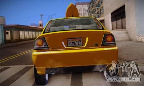 Declasse Premier Taxi for GTA San Andreas upper view