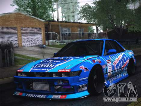 Nissan Silvia S13 Toyo for GTA San Andreas back left view