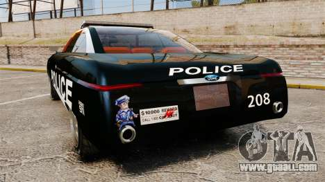 Ford Forty Nine Concept 2001 Police [ELS] for GTA 4 back left view
