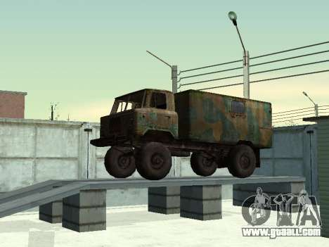 GAZ 66 for GTA San Andreas back left view