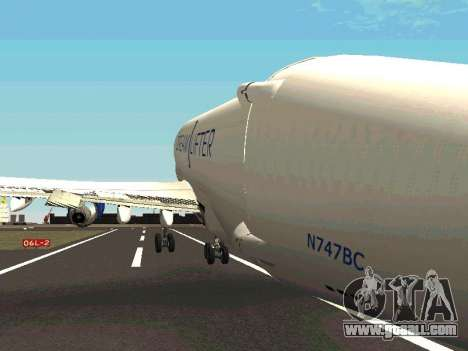 Boeing-747 Dream Lifter for GTA San Andreas bottom view