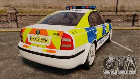 Skoda Superb 2006 Police [ELS] Whelen Edge for GTA 4 back left view