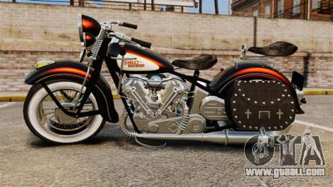 Harley-Davidson Knucklehead 1947 for GTA 4 right view