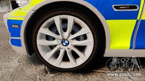 BMW 550d Touring Metropolitan Police [ELS] for GTA 4 back view
