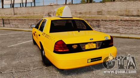 Ford Crown Victoria 1999 NYC Taxi v1.1 for GTA 4 back left view