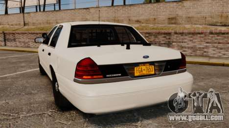 Ford Crown Victoria 1999 Unmarked Police for GTA 4 back left view