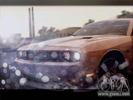 Dodge Challenger SRT8 2012 HEMI for GTA San Andreas inner view