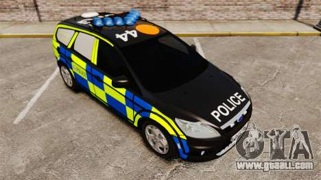 Ford Focus Estate 2009 Police England [ELS] for GTA 4 back view