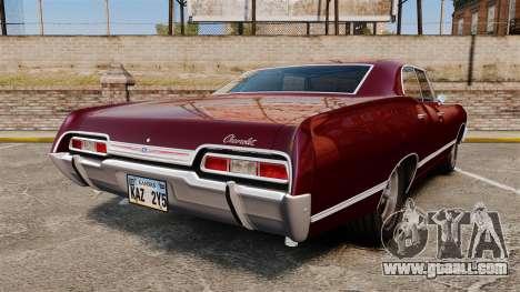 Chevrolet Impala 1967 for GTA 4 back left view
