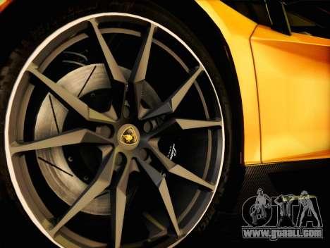 Lamborghini Aventador LP720 for GTA San Andreas back view