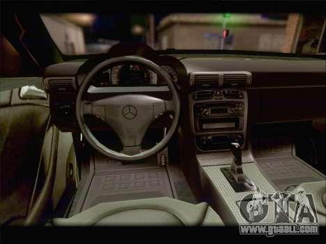 Mercedes SL500 v2 for GTA San Andreas upper view