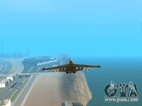 Su 25 for GTA San Andreas side view