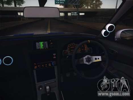 Nissan Skyline R34 FnF for GTA San Andreas inner view