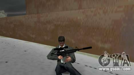 M4 with the Sniper Gun for GTA Vice City third screenshot
